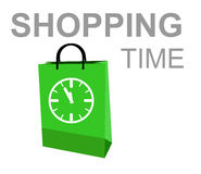 Shopping time. This is illustration shopping time Royalty Free Stock Images