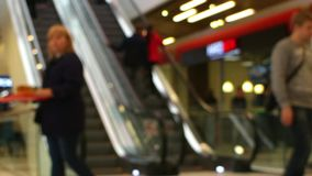 Shopping time lapse blurred motion. People shopping blurred motion time lapse stock video footage