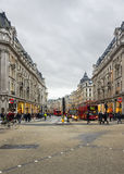 Shopping time in Oxford Street, London Royalty Free Stock Photos