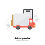 Shopping time. Vector Illustration. Icon delivery of goods from the store. Flat Vector Illustration stock illustration