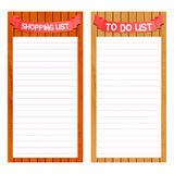 Shopping and to do list template Royalty Free Stock Photo