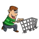 Shopping to the market royalty free stock photography