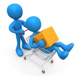Shopping Together stock illustration