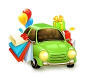 Shopping tour on car Stock Photo
