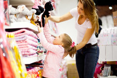 Shopping for toys Royalty Free Stock Images