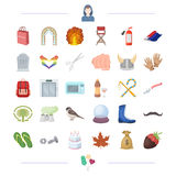 Shopping, traveling, cooking and other web icon in cartoon style. finance, sports, education icons in set collection. Stock Images