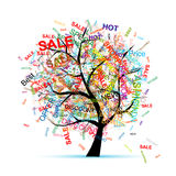 Shopping tree concept for your design Royalty Free Stock Photos