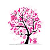 Shopping tree concept for your design Royalty Free Stock Images
