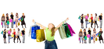 Shopping triumph Stock Image