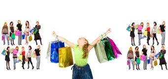 Shopping triumph Stock Image