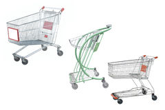 Shopping trolley Royalty Free Stock Images
