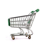Shopping trolley. On white background Royalty Free Stock Photo