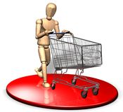 Shopping with trolley Royalty Free Stock Image