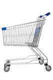 Shopping trolley. Isolated on white background Royalty Free Stock Photo
