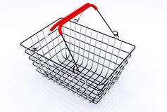 Shopping trolley. A 3d illustration of a steel shopping chart Stock Photo