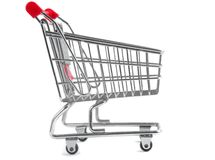Shopping trolley Royalty Free Stock Photos