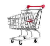 Shopping trolley. Isolated on white background Royalty Free Stock Images