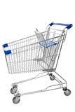 Shopping trolley. Isolated on white background Royalty Free Stock Photos