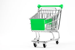 Shopping Trolley. Over a plain white background Royalty Free Stock Image