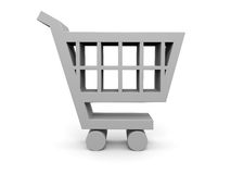 Shopping trolley 3D illustration Stock Photo