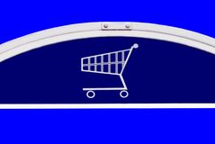 Shopping trolley basket cart sign Stock Images
