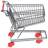 Shopping Trolley Cutout. Shopping Trolley Isolated on White Background Royalty Free Stock Photo