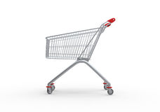 Shopping trolley, 3d render Royalty Free Stock Image