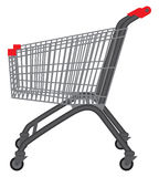 Shopping trolley. Stock Photo
