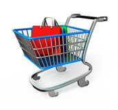 Shopping trolley illustration Royalty Free Stock Photos
