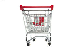 Shopping trolley isolated Royalty Free Stock Images