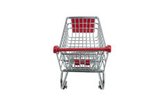 Shopping trolley isolated Stock Photos