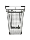 Shopping Trolley. A shopping trolley isolated against a white background Royalty Free Stock Image