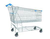 Shopping trolley isolated. 3D illustration vector illustration