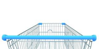 Shopping trolley isolated. 3D illustration stock illustration