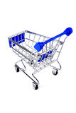 Shopping trolley  isolated Royalty Free Stock Photo