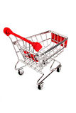 Shopping trolley  isolated Royalty Free Stock Photography