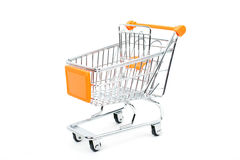 Shopping trolley isolated on white background Royalty Free Stock Images