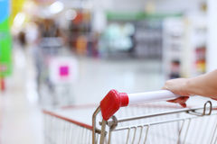 Shopping trolley in motion Stock Photography