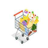 Shopping Trolley Products Food Royalty Free Stock Images