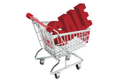 Shopping trolley sale Stock Photo