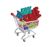 Shopping trolley sale offers. And reductions in trolley Stock Photography