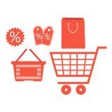 illustration set supermarket on white background vector illustration
