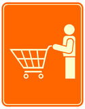 Shopping trolley - sign Royalty Free Stock Images