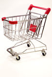 Shopping trolley on white background 10 Royalty Free Stock Photo