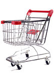 Shopping trolley on white background 2 Stock Photos