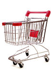 Shopping trolley on white background 3 Stock Photo