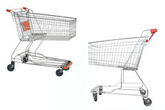 Shopping trolleyes Royalty Free Stock Images