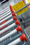 Shopping trolleys Stock Image