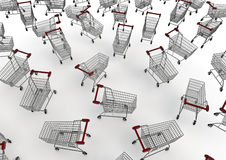 Shopping trolleys Stock Images