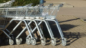 Shopping trolleys Stock Photo